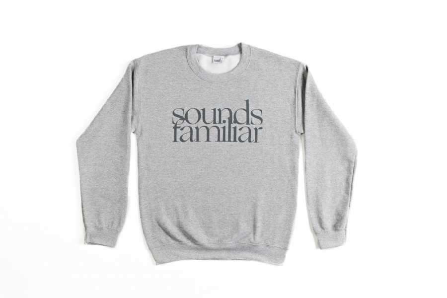 SF LOGO CREWNECK  SWEAT // SPORT GREY