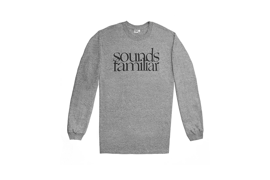 SOUNDS FAMILIAR CLASSIC LOGO LONG  SLEEVE  GREY