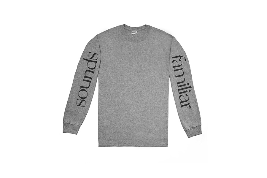 SF LOGO ON LS  TEE // SPORT    GREY
