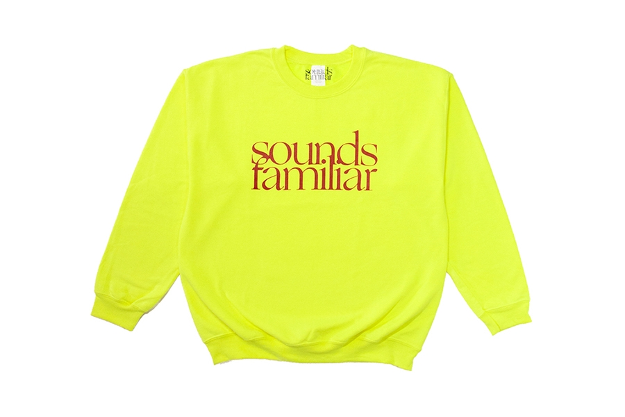 SF LOGO CREWNECK  SWEAT //  FLUO YELLOW