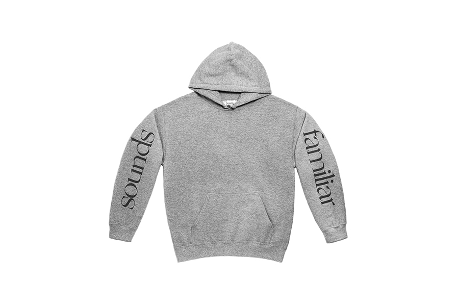 CLASSIC LOGO  ON LONG SLEEVE HOODIE GREY