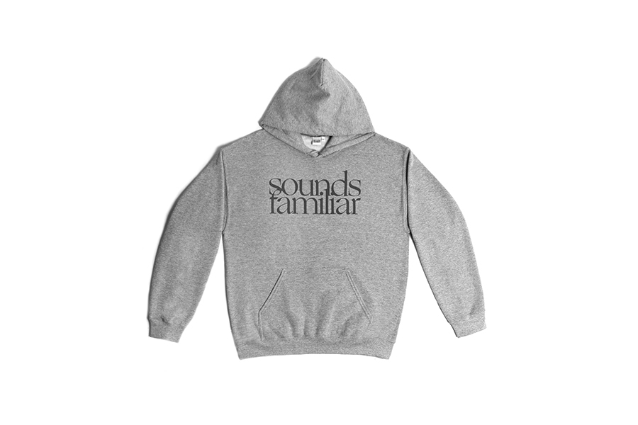 SOUNDS FAMILIAR HOODIE GREY