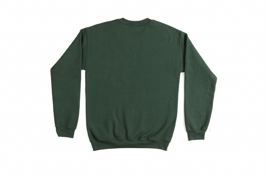 SOUNDS FAMILIAR LOGO CREWNECK  GREEN FOREST