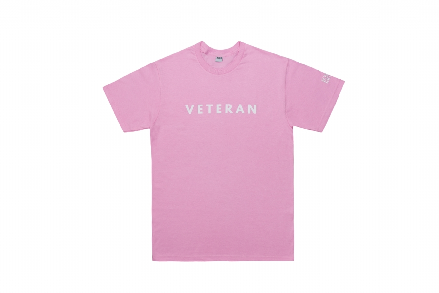 SF VETERAN TEE PINK / WHITE